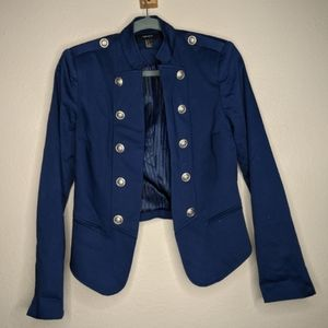 Navy military-style jacket